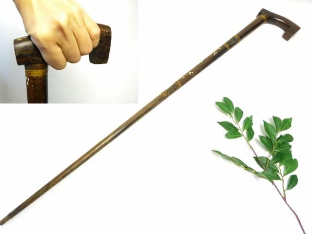 アンティーク 自然木 古い一本杖 / つえ / ステ...