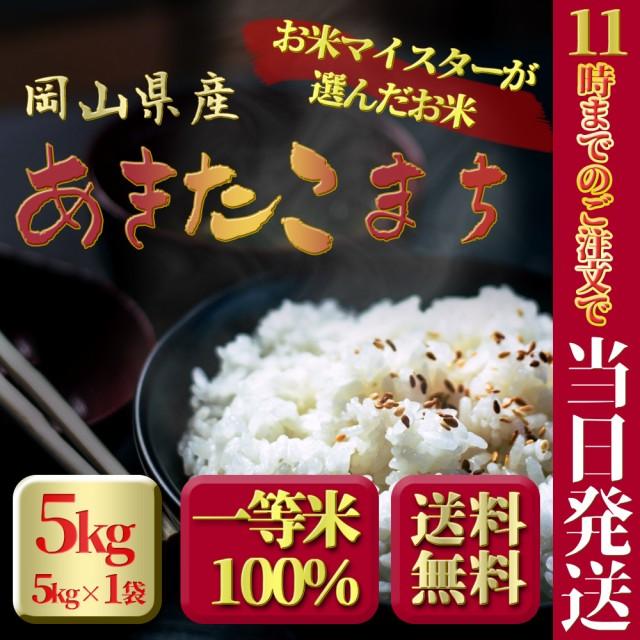 新米 お米 安い 29年度岡山県産 あきたこまち 5kg...