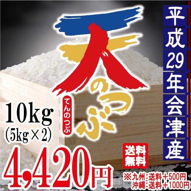 天のつぶ 白米 10kg(5kg×2)会津産 29年産 お米...