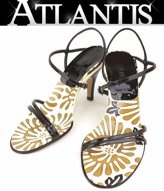 フェンディ サンダル 靴 パテント size35 黒
