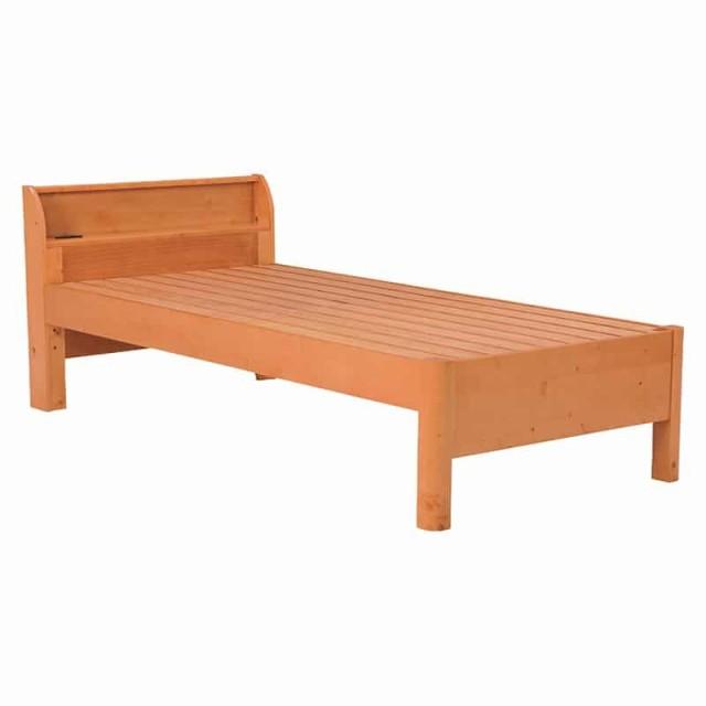 ベッド(ナチュラル) WB-7701S-NA