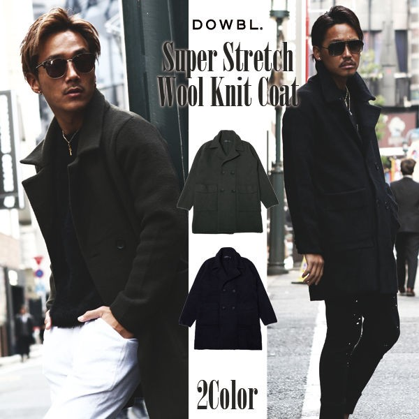 DOWBL/ ダブル/ Super Stretch Wool Knit Coat 【...