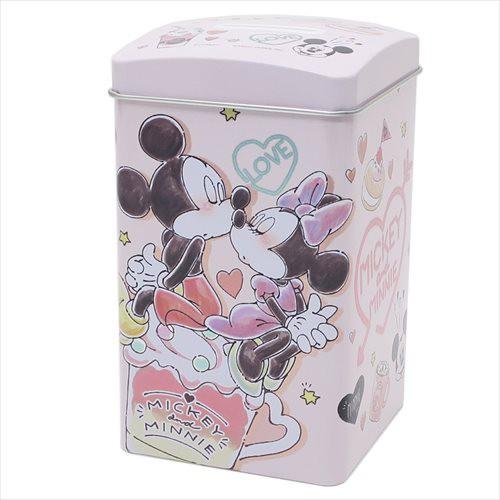 ◆ミッキー&ミニー BOX缶バンク(ディズニー)貯...