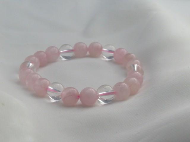 紅水晶&水晶 ピンク色 女子力アップ クリスマ...