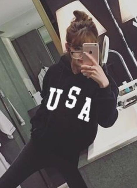 【送料無料】 USA ロゴ パーカー スウェット トレ...