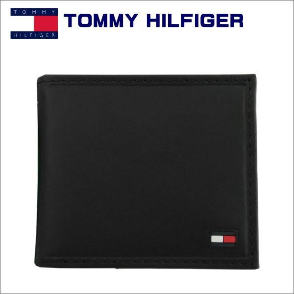 トミー・ヒルフィガー 2つ折り財布 ブラック TOM...