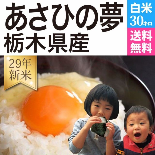 米30kg あさひの夢 29年栃木県産 送料無料 ※沖...