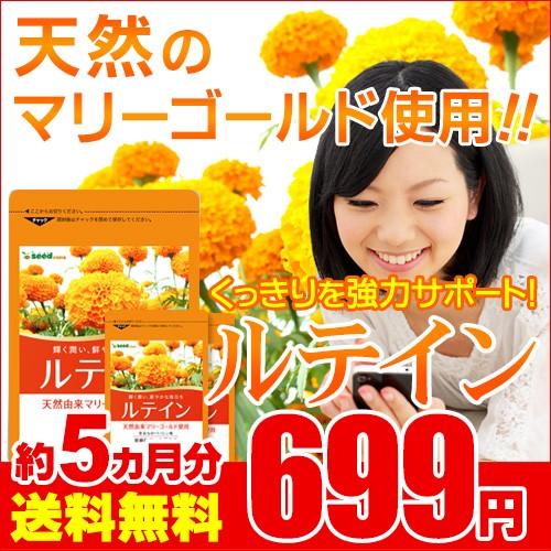期間限定699円SALE ルテイン&ゼアキサンチン 約5...
