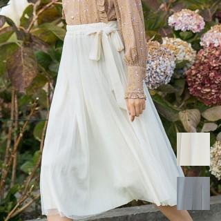 ウエスト リボン プリーツ スカート FKOM8628