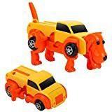 ドライブカー★車から犬へまた車と変形 ゼンマイ...