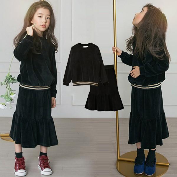 子供服 セットアップ 女の子 スカートセット パー...