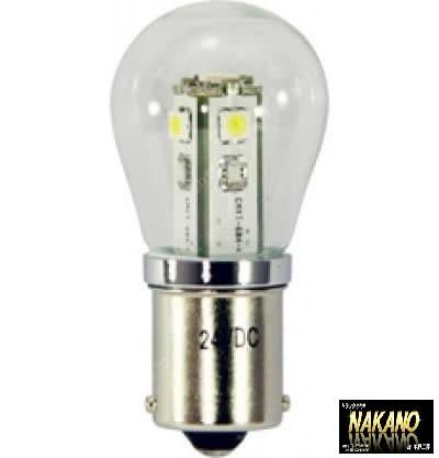 明るい【LED5 電球型バルブ 白 24V S-25タイプ ...