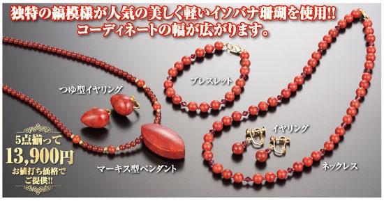 華やぎ サンゴ豪華5点セット(55148-000)