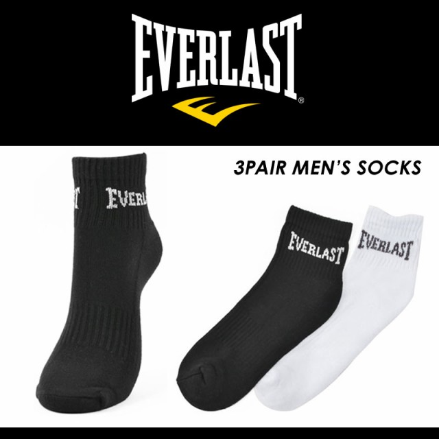 EVERLAST エバーラスト 小物 靴下 ソックス ブラ...