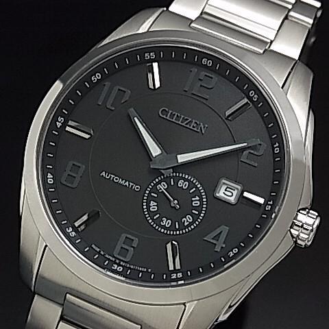 【CITIZEN/シチズン】自動巻 メンズ腕時計 ブラッ...