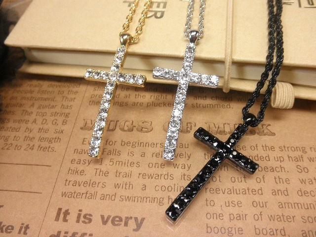 ネックレス クロス 十字架  シンプル 綺麗 シルバ...
