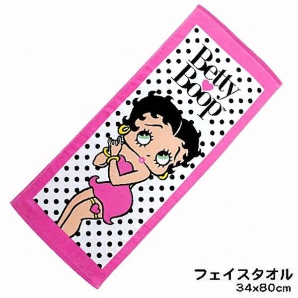ベティーちゃん Betty Boopプリント フェイスタオ...