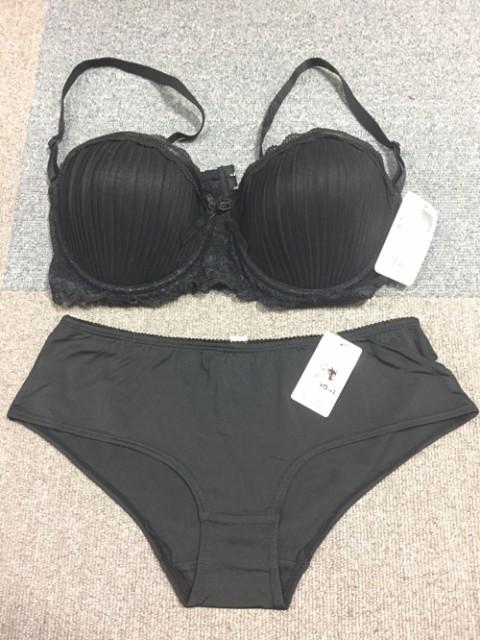 韓国製ブラショー/ブラック(フルバック)3550