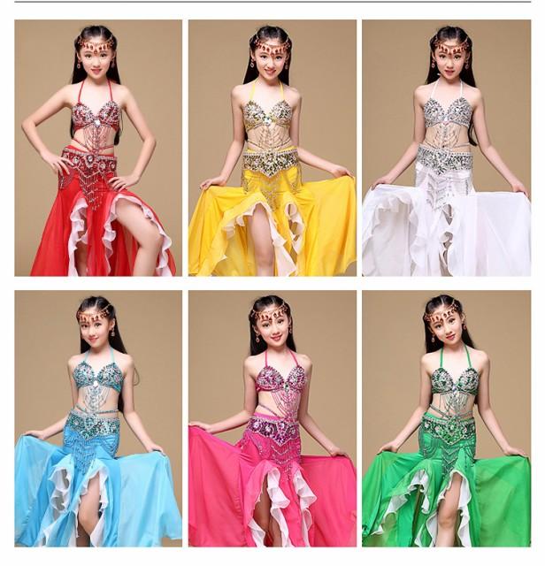 子供用ベリーダンス衣装 アラビア衣装きらきら美...