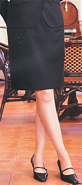 E2450-7 タイトスカート(3段カギホック) ブラ...