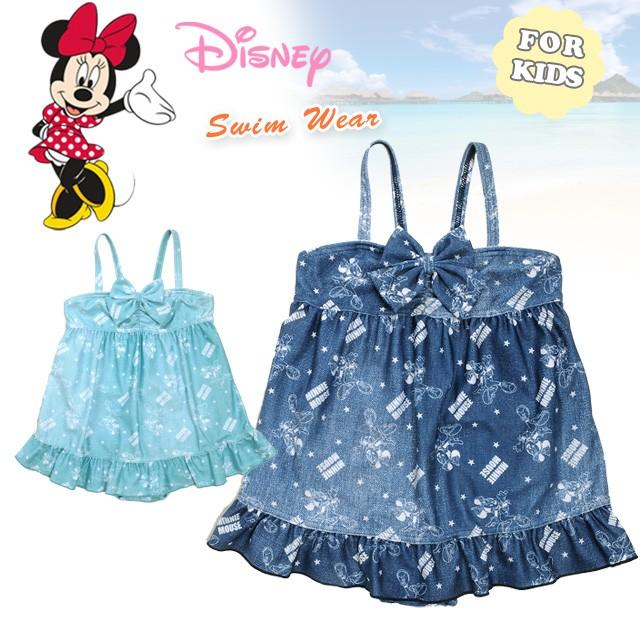 b239f8df0f24e キッズ・ジュニア Disney 女の子用ワンピース水着 ディズニー ミニーマウス ミニーちゃん 子供用 子ども