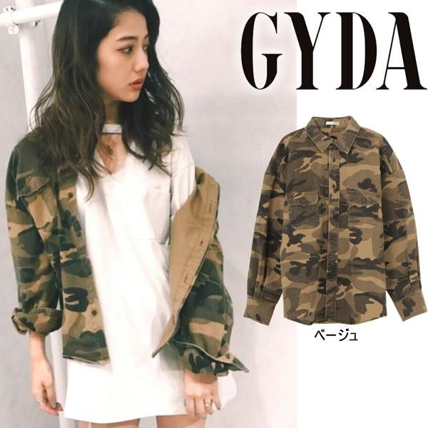 GYDA ジェイダ カモフラシャツ【2017A/W】【入荷...