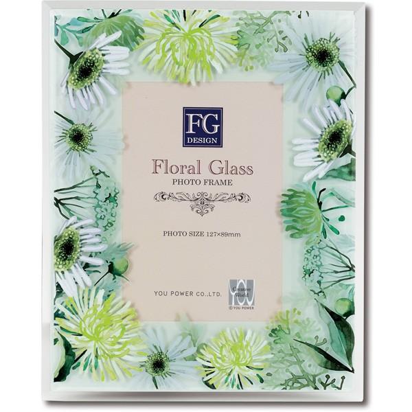 写真たて Floral Glass FGデザイン フォトフレー...