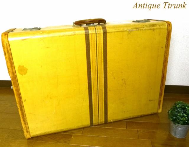 アンティーク トランク オールド スーツケース ミ...