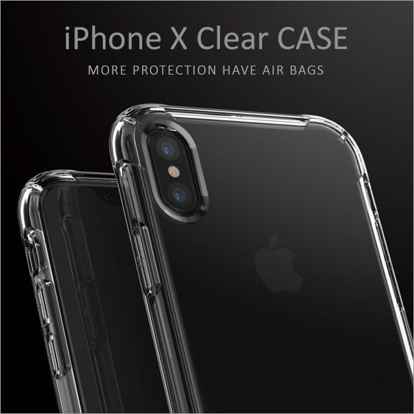 iPhone X ケース シリコンケース クリアケース カ...