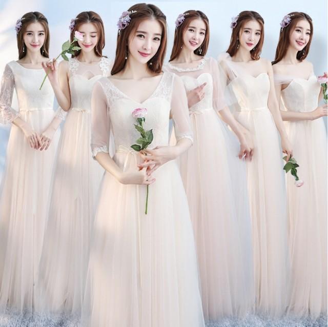 6デザインカラードレス フォーマル イブニングド...