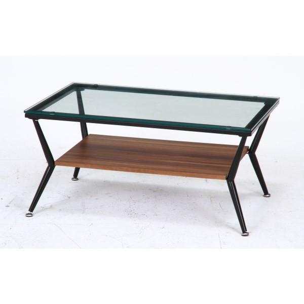 ガラスリビングテーブル クレア DBR