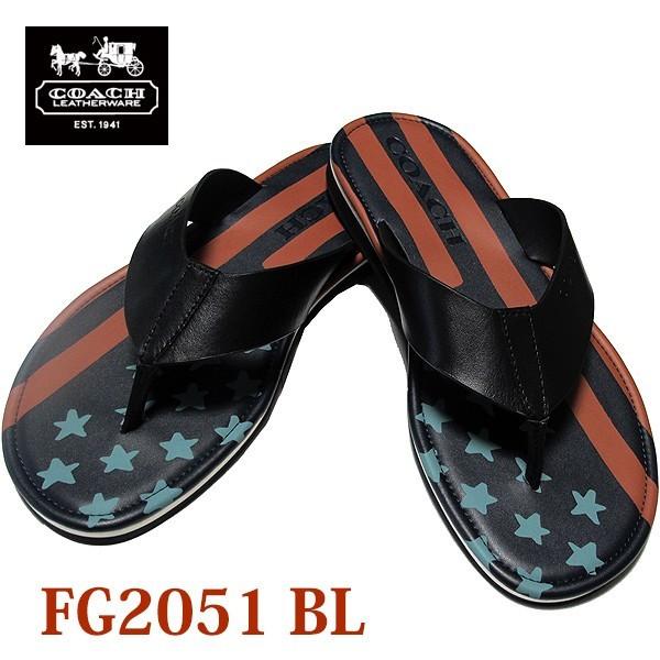 コーチ/COACH Rockaway Flag Sandal レザー フラ...