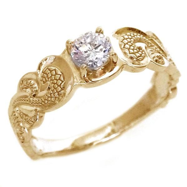 ハワイアンジュエリー 指輪 ピンクゴールド K18 ...