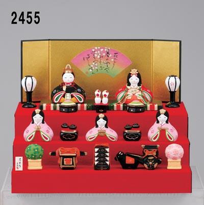 ひな祭り 陶製の雛人形【錦彩 華みやび段飾り雛...