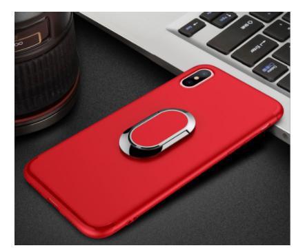 【4色】軽量 薄型 iphoneXケース リング付き 車載...