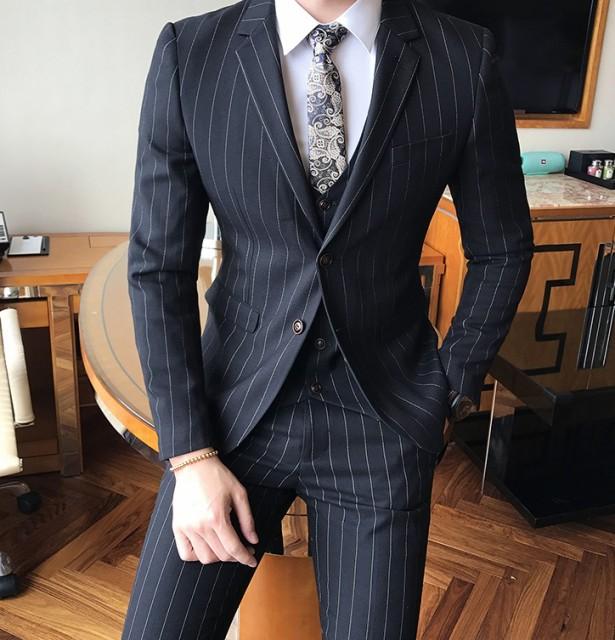 結婚式 二次会 スーツ ストライプ Khabarplanet Com