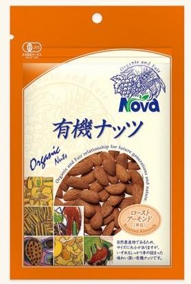 NOVA 有機栽培ローストアーモンド(無塩) 90g