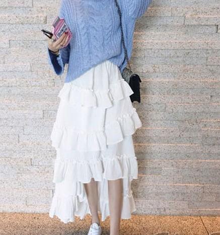 ♡*ひらひらフリルが可愛いフレアスカート。...