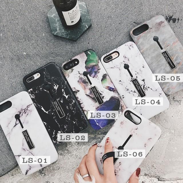 人気 韓国風 iPhoneX/iPhoneX用大理石柄MarblingT...