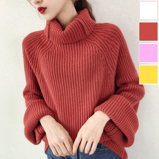 オーバーサイズとリブスリーブがかわいいセーター...
