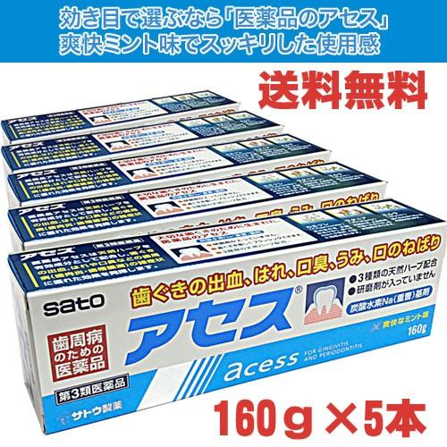 【送料無料】佐藤製薬 アセス 160g×5個【第3類...