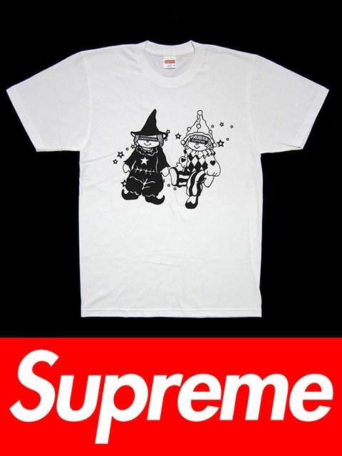 送料無料 メンズ Tシャツ ホワイト Supreme シュ...