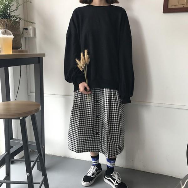 スカート ギンガムチェック ミモレ丈