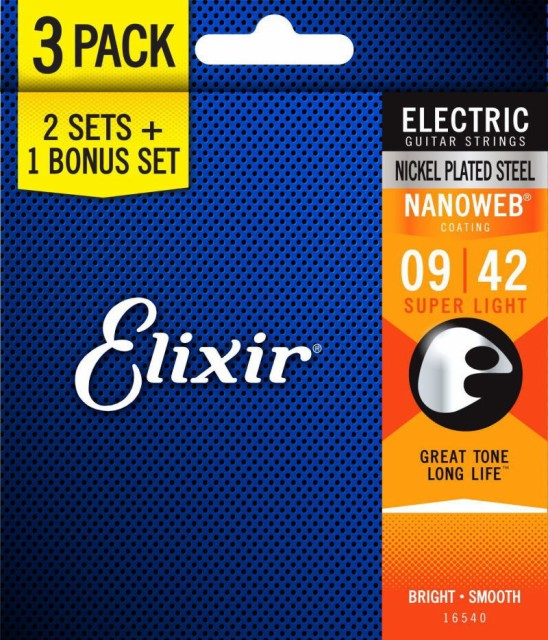 Elixir エリクサー エレキギター弦 2セット+1ボー...