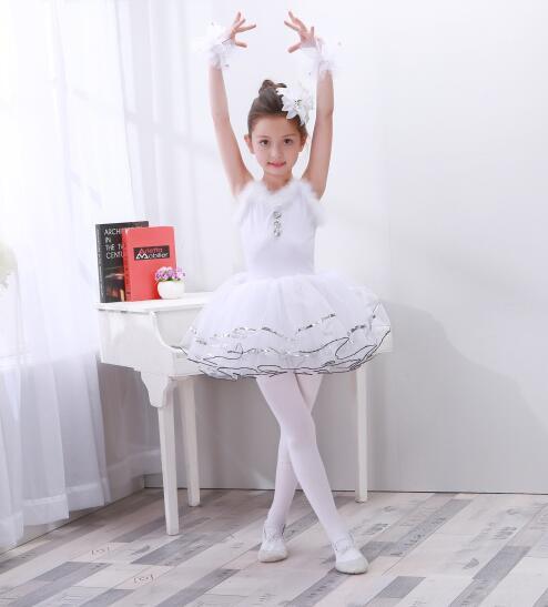 ダンス衣装 キッド女の子バレエダンス体操レオタ...