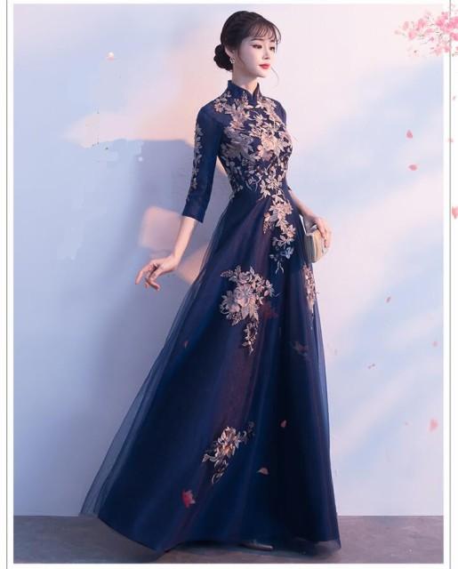 刺繍 結婚式 ドレス 演奏会ウエディングドレス ...