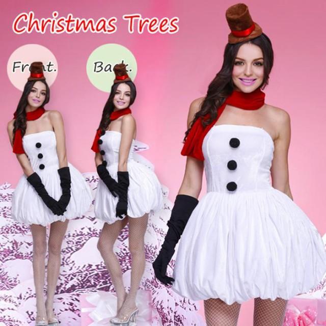 送料無料サンタ コスプレ サンタコス レディース クリスマス コスチューム 雪だるま ワンピース  サンタクロース 大人 サンタ衣装