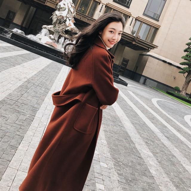 冬 コート ロング丈 チェスターコート ベルト...