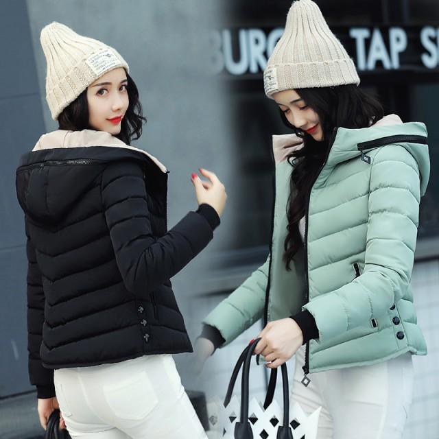 秋冬 ダウンジャケット ショート丈 フード