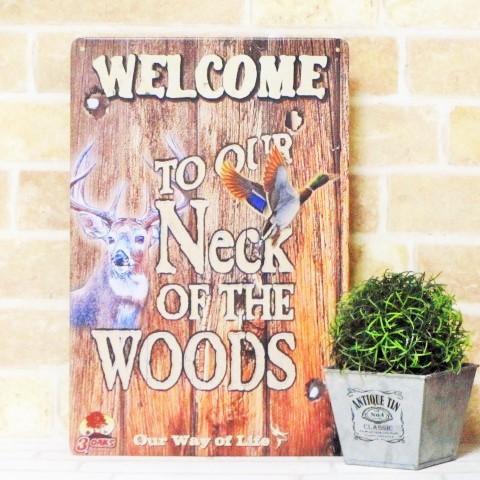 【 ブリキ看板 welcome wood  // 1000種類 】 ...